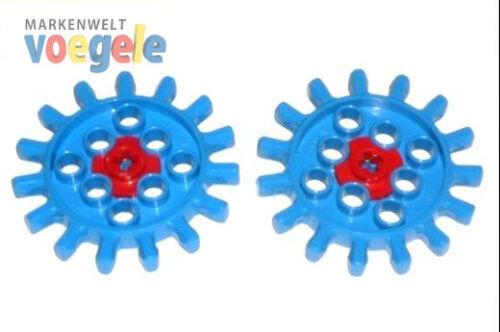 Lego ® Technique Technic 2 Engrenages engrenage à partir des années 70er 2 pièces bleu