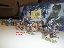 Britains 17379 Unión Infantería seis Caballo artillería Pistola ágil + Crew Figura Set
