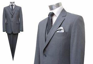 Herren-Anzug-Muga-3-teilig-Grau-Gr-46