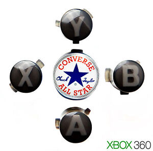XBOX 360 Black ABXY & Custom Converse Guide Buttons Torx ...