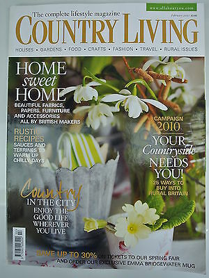 Country Living Magazine  February, 2010  Issue No  290  Home sweet Home  |  eBay