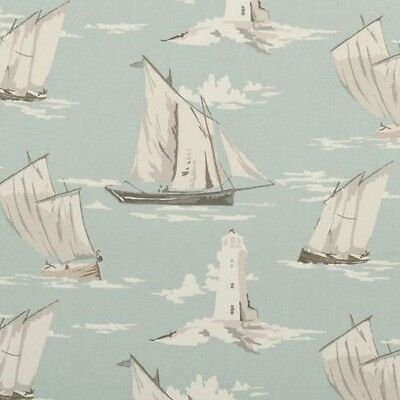 CLARKE AND CLARKE SKIPPER MINERAL SAILING BOAT LIGHTHOUSE FABRIC
