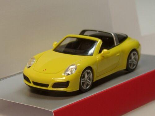 Herpa Porsche 911 Targa 4 028868-1:87 racinggelb