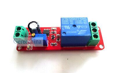 DC 12V power delay Relay module 0-10 seconds delay switch NE555 relay module