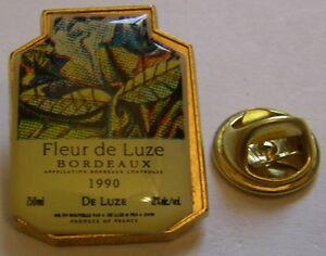 BORDEAUX-FLEUR-de-LUZE-1990-French-Wine-vintage-pin-badge