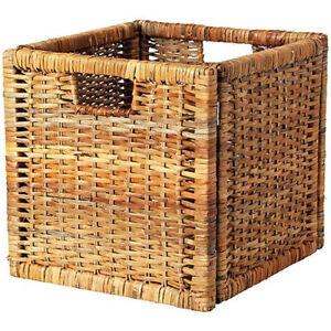 ikea branas bran s fach box f r expedit kallax kiste aufbewahrungsbox rattan ebay. Black Bedroom Furniture Sets. Home Design Ideas