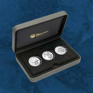 Australien-Three-Coin-Collection-High-Relief-3-x-1-2019-PP-Silber