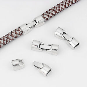 5Sets Gold//Silver Tone Magnetic Clasp Bracelet End Caps For 10mm Round Leather