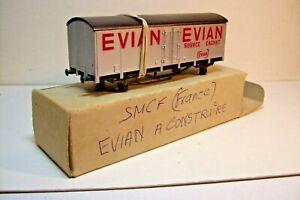 WAGONS-TRAIN-HO-KIT-COUVERT-EVIAN-A-CONSTRUIRE-de-SMCF-FRANCE-NEUF-en-boite