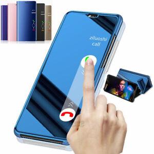 Pour-Huawei-P20-Pro-P-Smart-P8-P9-P10-Affichage-Touch-Miroir-flip-etui-en-Cuir