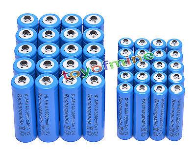 20XAA3000mAh+20X AAA 1800mAh 1.2VNi-MH rechargeable battery Blue