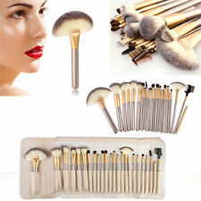 24PCs Professional Makeup Brushes set eyeshadow powder Cosmetic beige BY161 case