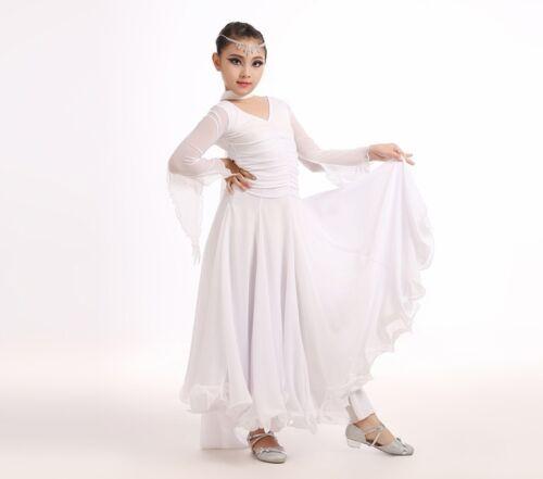 NEW Childrens Girls Latin Salsa Ballroom Dance Dress Dancewear Costumes #FY041