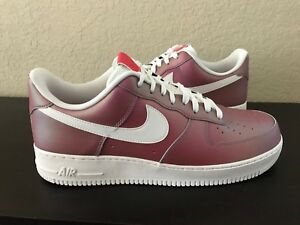 NIKE AIR FORCE 1  07 LV8 TRACK RED SUMMIT WHITE 823511 600 US MENS ... 24c9b649f