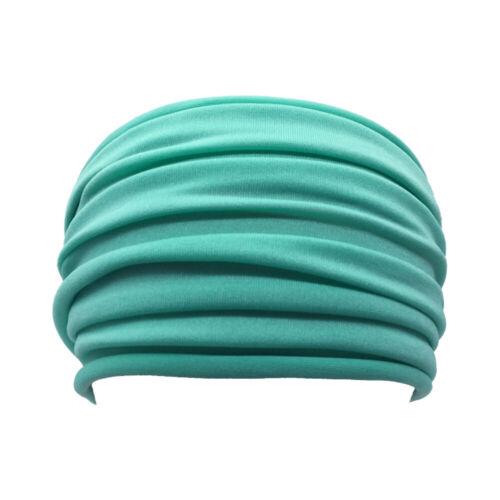 Details about  /Womens Sweat Yoga Headband Turban Sports Sweat Hair Bands Tie Turban Bandana