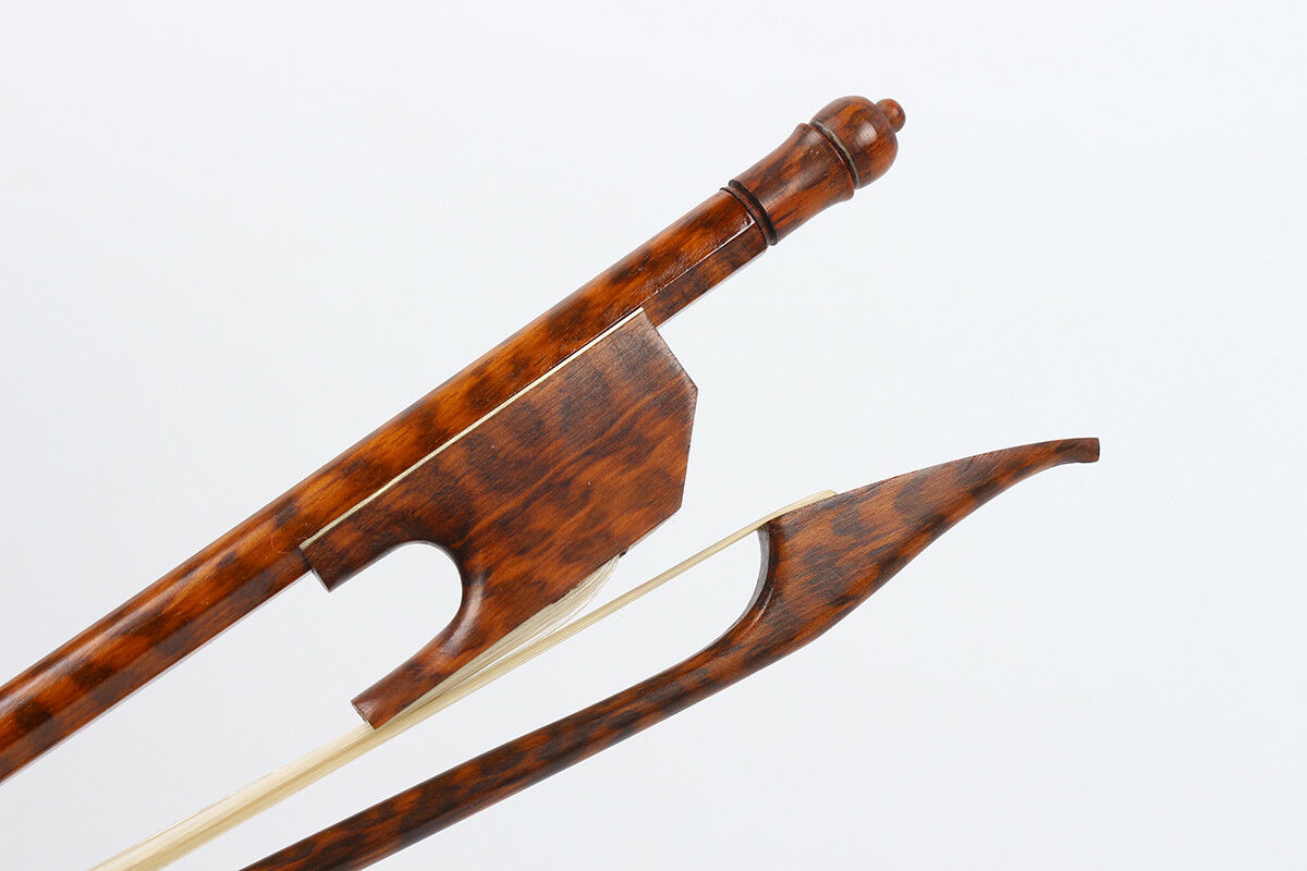 Yinfente SnakeWood Violin Bow Baroque Style Great whitee Natural HorseTail