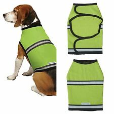 Insect Shield Bug Repellent Protective Safety Reflective Dog Vest Large Green