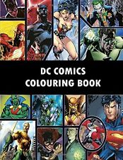 Coloring Book For Adults DC Comics Super Heroes Anti Stress Design Figures