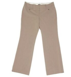 NEW ANN TAYLOR Light Brown Marisa Trouser Straight Dress Pants size 14 NWT - 667