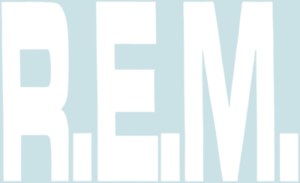 17030-White-R-E-M-Logo-REM-Alt-Rock-Music-Band-90-039-s-Rub-on-Vinyl-Sticker-Decal