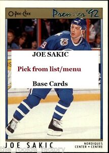Joe-Sakic-HOF-LOT-x1-1990-91-to-1997-98-U-Pick