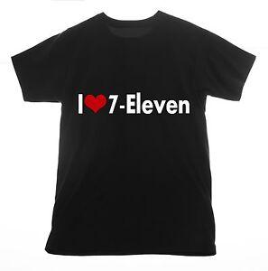 I love 7-Eleven t shirt Clothing Tee T-shirt Heart convenience 24 ...