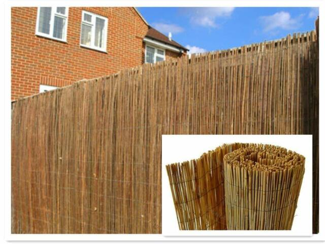 4M NATURAL FENCE PANEL PEELED REED FENCING SCREENING ROLL SCREEN GARDEN OUTDOOR