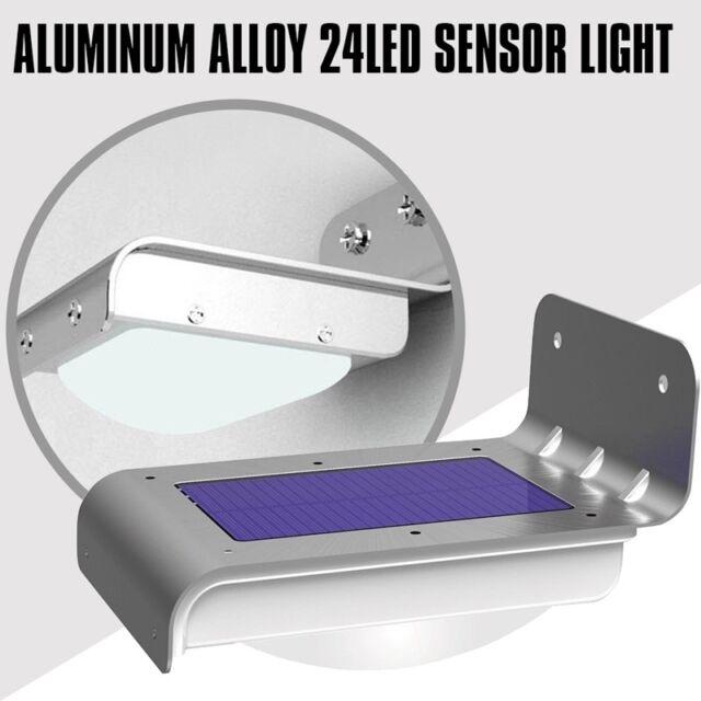 Eclairage exterieur de capteur de mouvement de lumiere de securite solaire 24 SC
