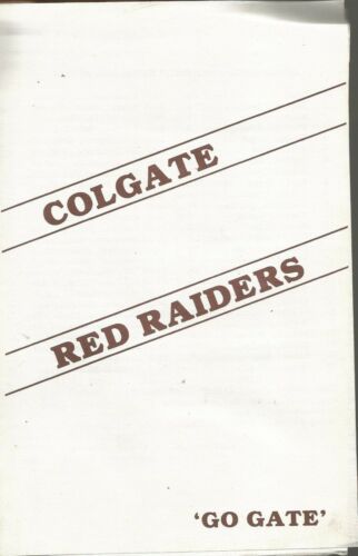 COLGATE RAIDERS HOCKEY 1988-89 PROGRAM VS RYERSON RAMS PATRIOT LEAGUE ECAC MAISA