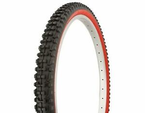 1-26x2-10-DURO-MOUNTAIN-BICYCLE-TIRE-RED-WALL-WIRE-BEAD-DIRT-amp-MUD-MTB-TIRE