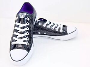 773d2c83e11f Image is loading Black-Sequin-Converse-All-Star-Low-Top-Sneakers-