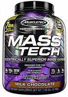 Mass Tech Protein Drink, Weight Gain Formula Milk Chocolate Health Fitness on sale