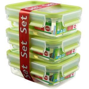 EMSA Frischhaltedosen SET 3x Vorratsdose Brotbox dicht stapelbar Clip /& Close