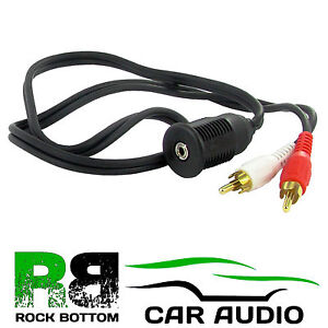 RENAULT AUX LEAD IN TO 3.5MM JACK INPUT IPOD IPHONE HTC TABLETS CAR VAN