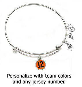 Image Is Loading Field Hockey Bangle Bracelet Personalize With Player Number