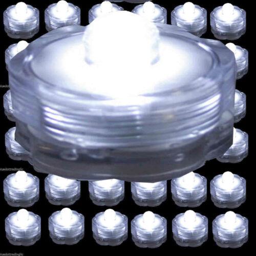 36 48 60 120 WHITE Led Submersible Waterproof Wedding Decoration Party Tea Light