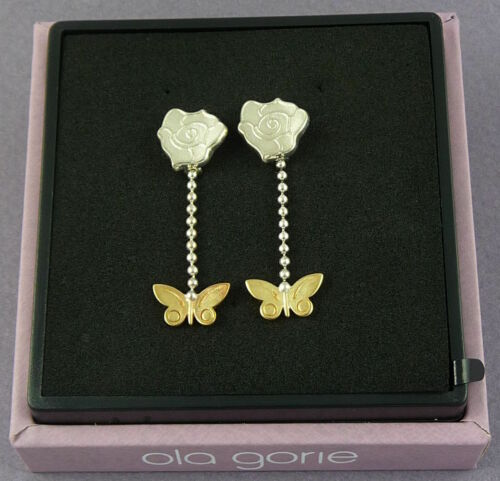 """Ola Gorie Silver /& 9ct Yellow Gold Flowerland Pendant 18/"""" Curb Chain Scottish"""
