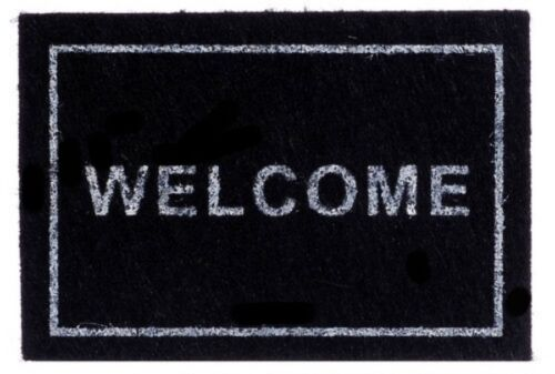 "MINIATURE WELCOME MAT for DOLLHOUSE orFAIRY GARDEN 6cm x 4.25cm or 2.25/"" x 1.52/"""
