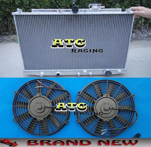 2* Fans For 1998-2002 Honda Accord SIR//SIRT CF4 98 99 00 01 Aluminum Radiator