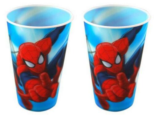 LENTICULAR SPIDERMAN 16OZ TUMBLER THICK PVC BPA FREE 3D ZAK MARVEL SET OF 2