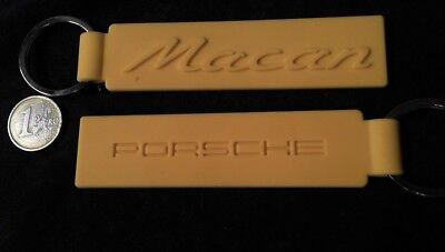 Luxus-accessoires Schlüsselanhänger Porsche Schlüsselanhänger Silikon Macan Gelb Original Regular Tea Drinking Improves Your Health