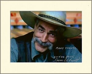 SAM ELLIOTT QUICK AND THE DEAD LEGACY PP 8x10 MOUNTED SIGNED AUTOGRAPH PHOTO