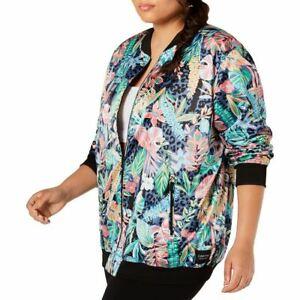 CALVIN KLEIN PERFORMANCE NEW Women's Plus Size Printed Bomber Jacket Top 2X TEDO