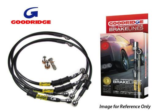 """Goodridge For Volvo 850 Braided Brake Kit Lines Hoses 16/"""" Wheels"""