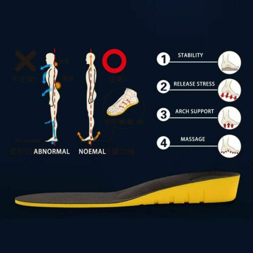 Height Increase Shoes Pads Mens Womens Tall Insole Boots Lift Pad Taller Insoles