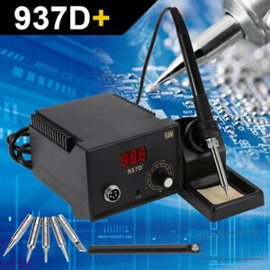 Soldering-Station-Heather-Iron-Welding-Solder-SMD-Tool-5-Tips-Stand-ESD-937D