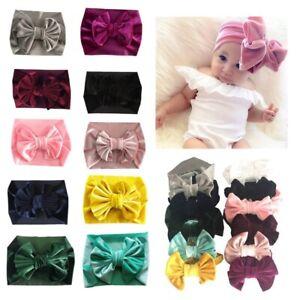 Unisex-Baby-Velvet-Big-Bow-Tie-Head-Wrap-Turban-Top-Knot-Headband-Newborn-Kids