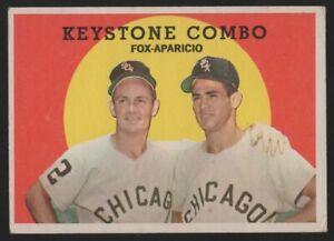 1959 TOPPS #408 KEYSTONE COMBO: NELLIE FOX / LUIS APARICIO