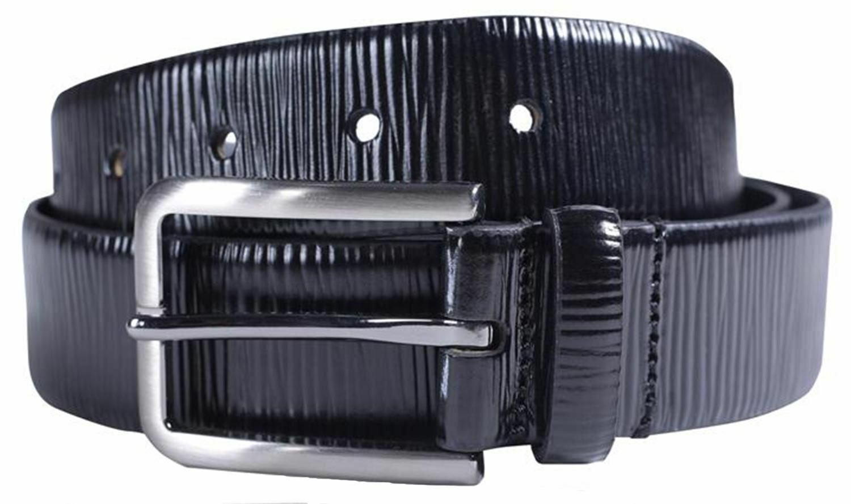 ! nuevo! Chicos Para Hombre Cebra Efecto de 35mm de ancho de cuero genuino Cinturones Hebilla de bucle Pin