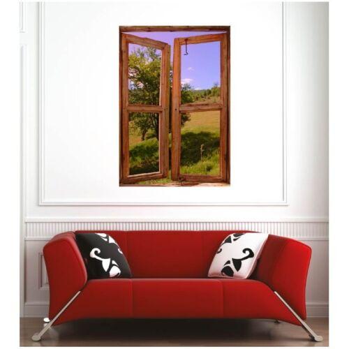 Affiche poster fenêtre prairie 3374092